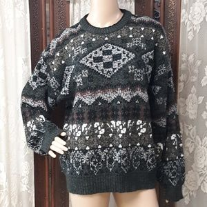 Chunky Long Sleeve Grandpa Sweater Large